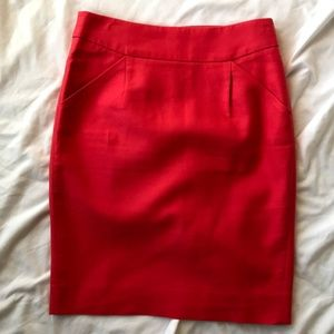 J Crew Pencil Skirt in Double Serge Cotton sz 0